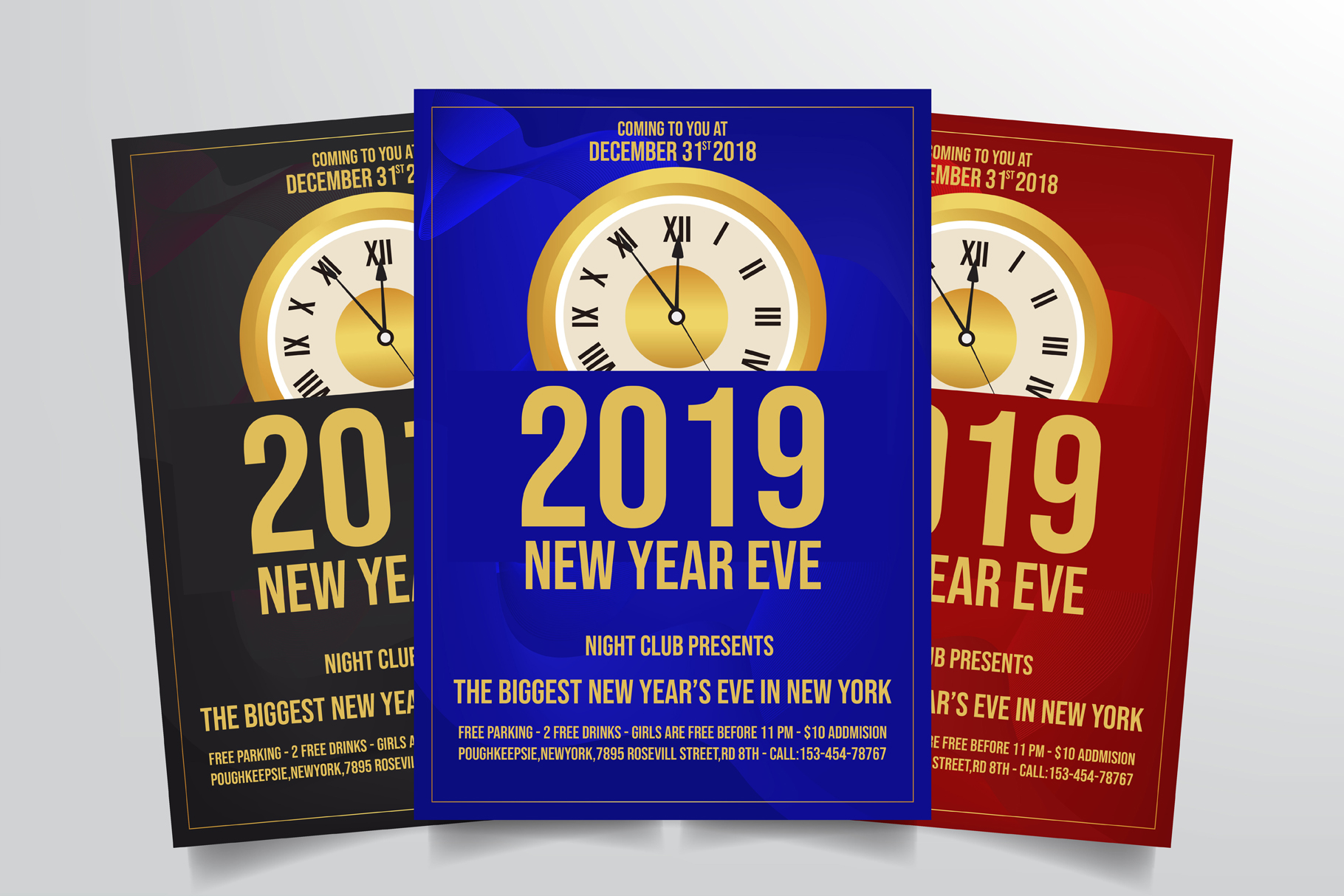 New Years Eve Flyer Template example image 1