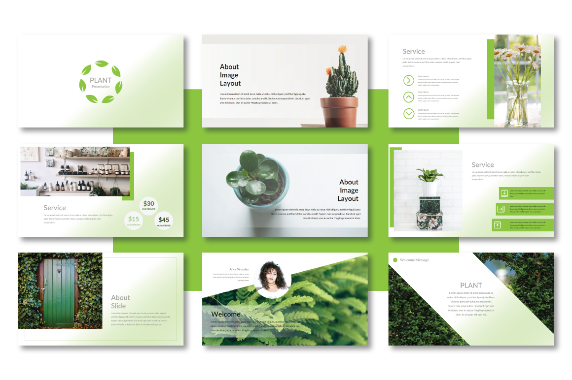 Plant Powerpoint Template example image 2