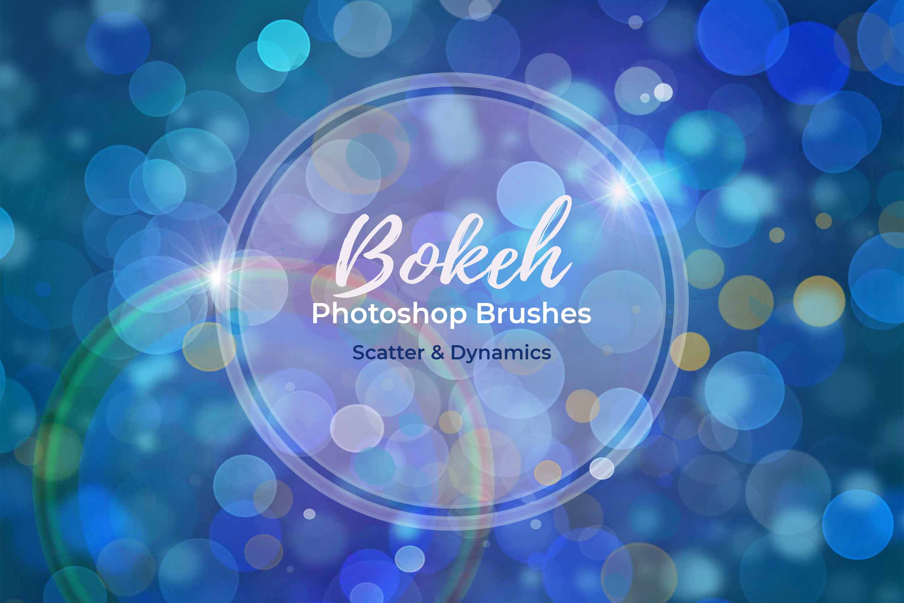 15 Bokeh Photoshop Brushes abr. - Scatter & Dynamics example image 6