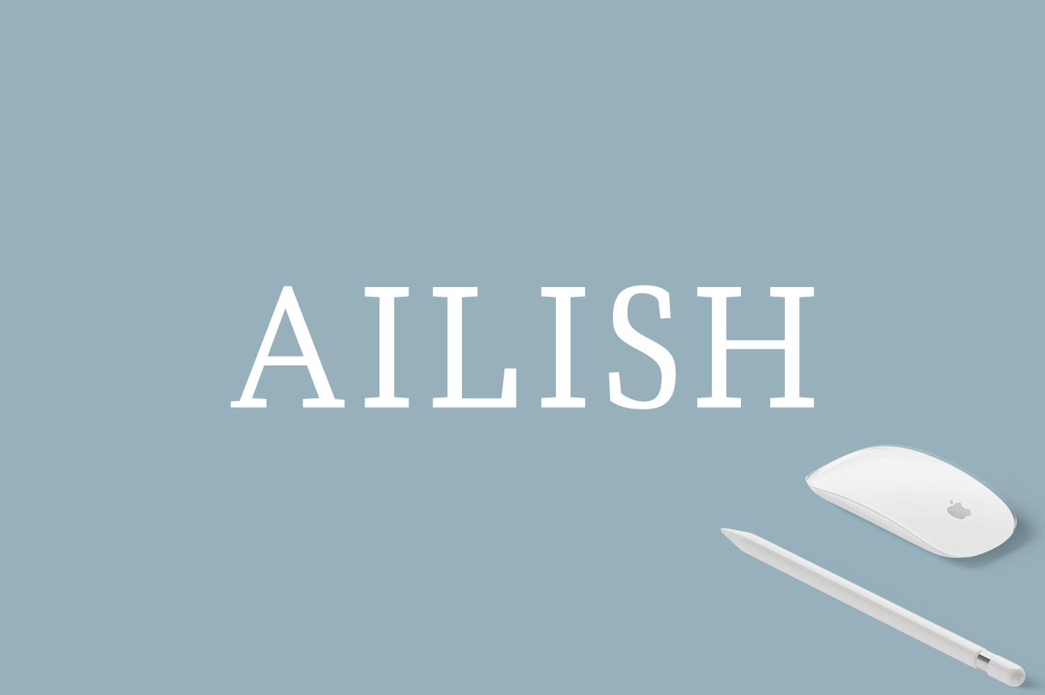 Ailish Slab Serif 3 Font Family example image 1