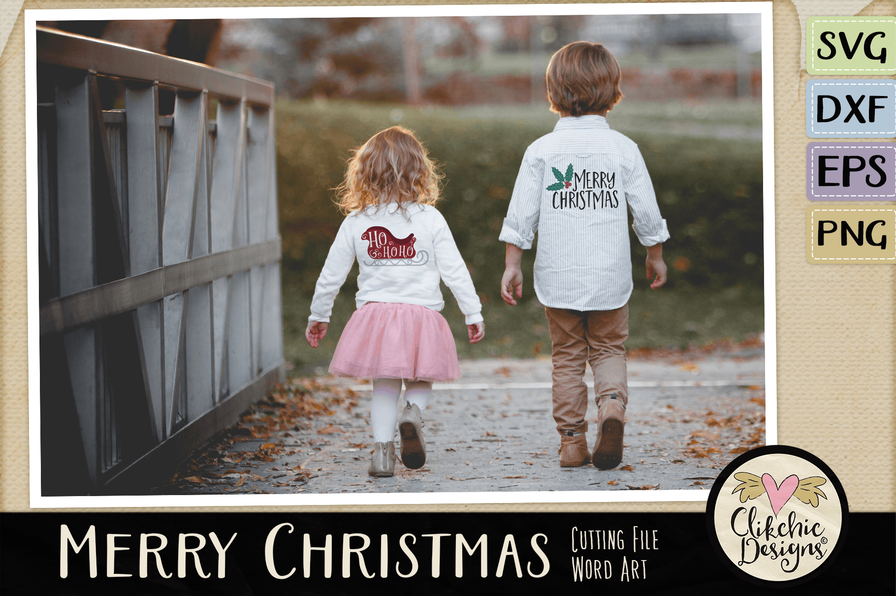 Merry Christmas SVG & DXF Cutting file Word Art example image 3