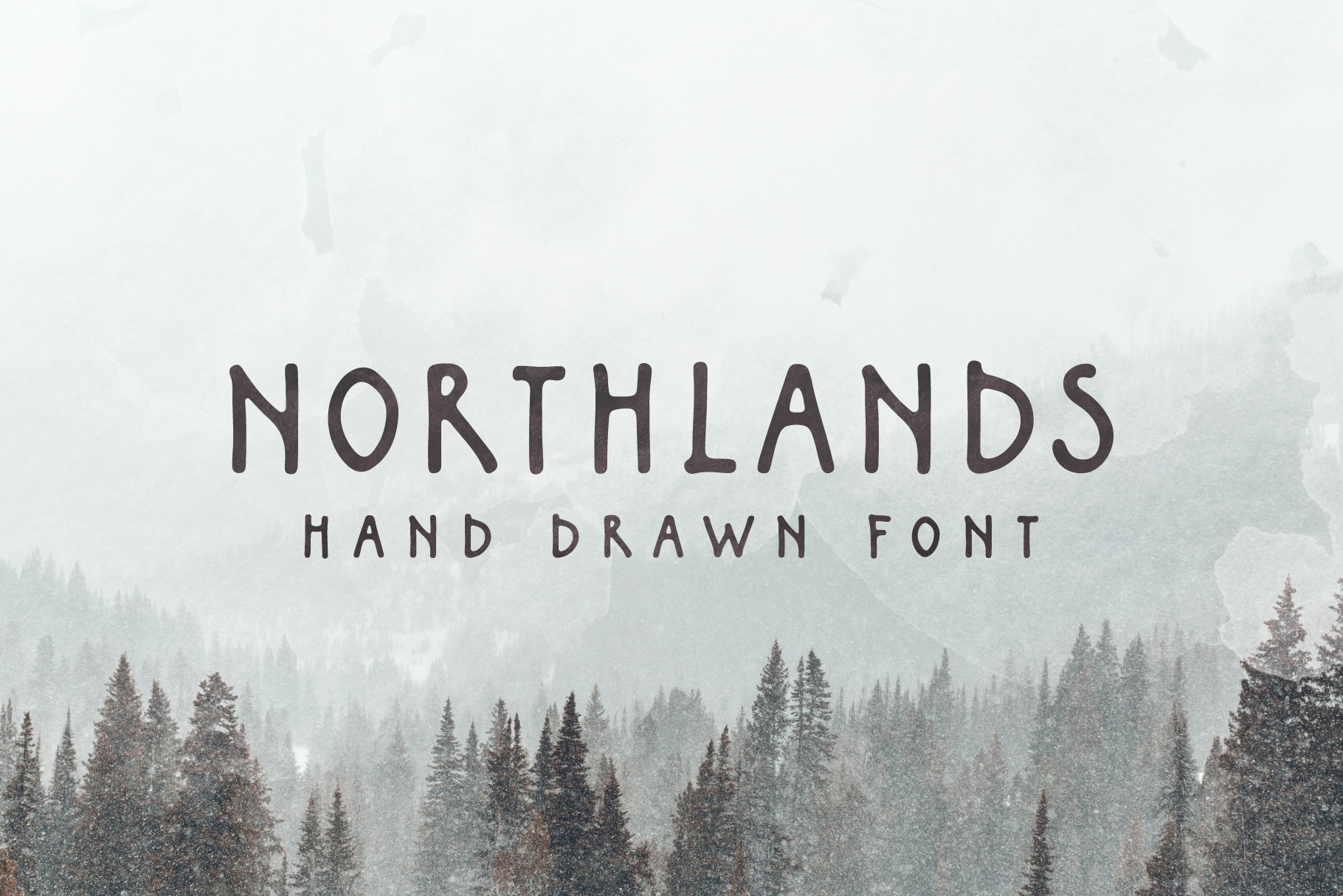 Northlands | Hand Drawn Font example image 1