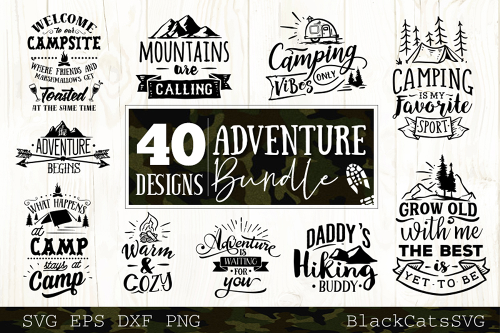 Adventure SVG bundle 40 designs Mountains SVG bundle example image 3