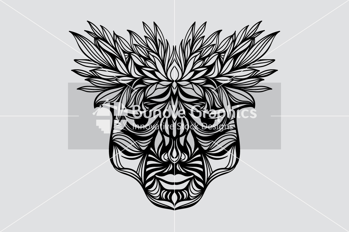 Tribal Face - Artistic Design Composition example image 3