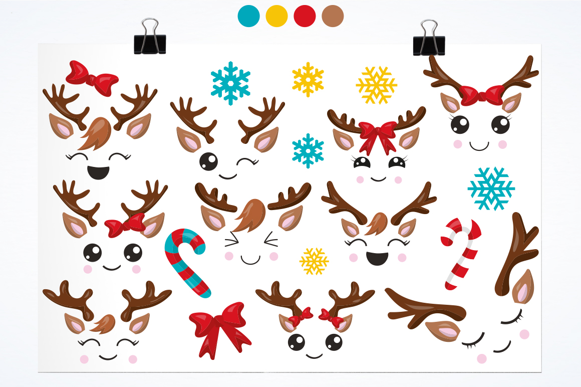 Little Reindeer graphic and illustrations example image 3