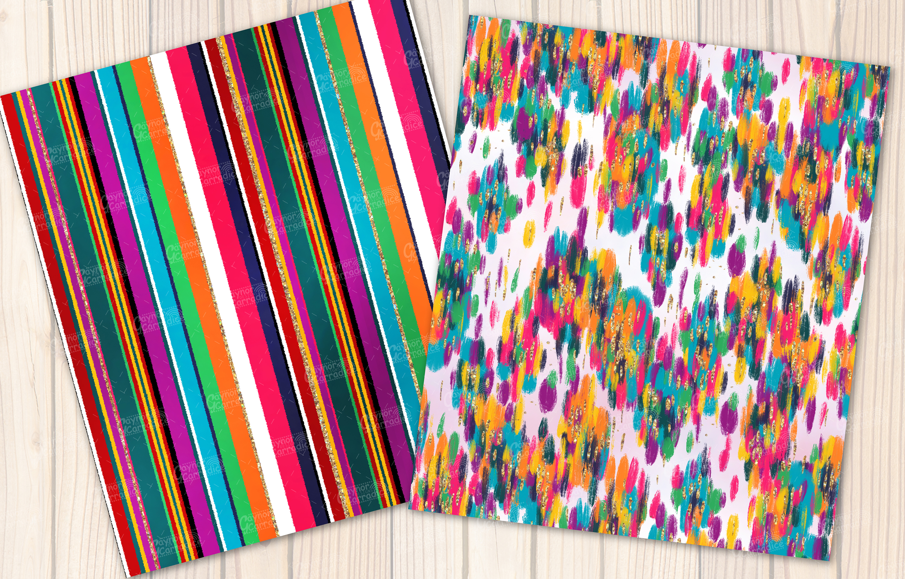 Lola - Mecian cinco de mayo Seamless Pattern collection example image 2