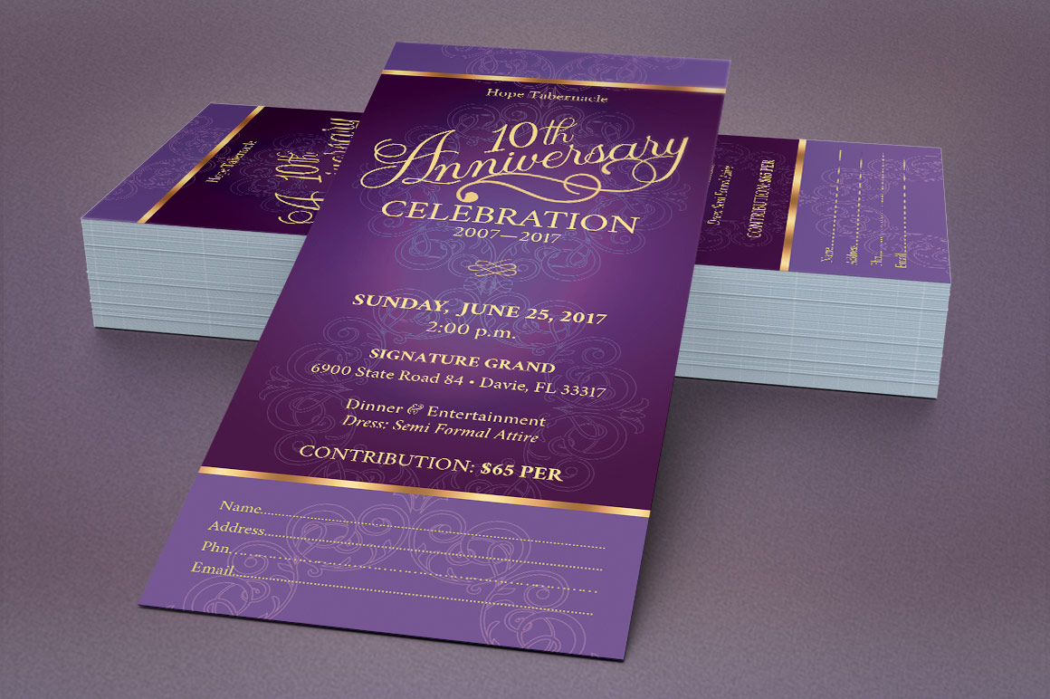 Church Anniversary Publisher Ticket Bundle example image 7