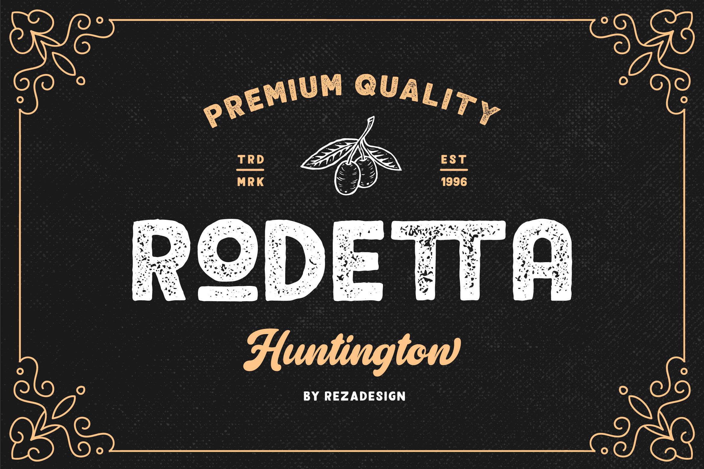 Rodetta - Sans Vintage Font example image 1