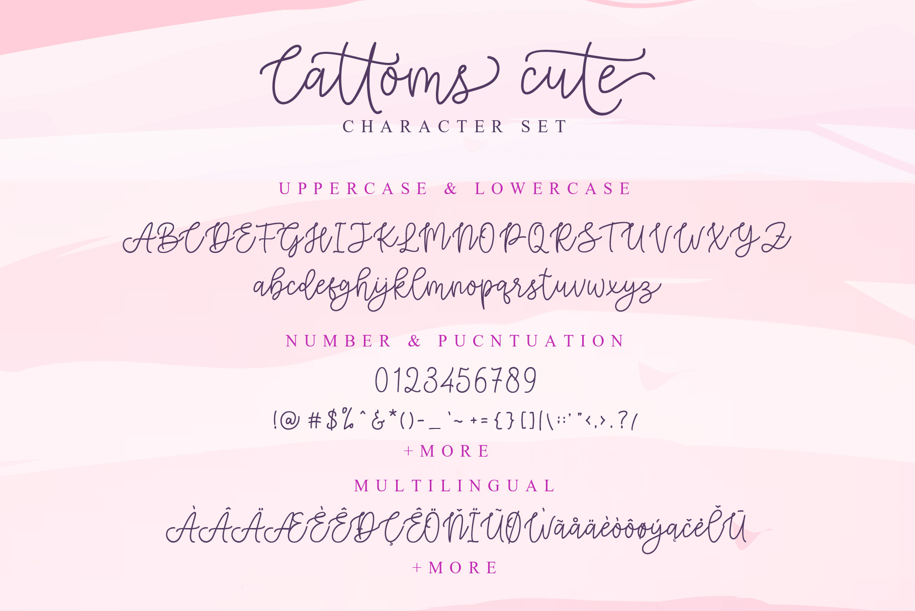 Cattoms Cute Script Fonts example image 9
