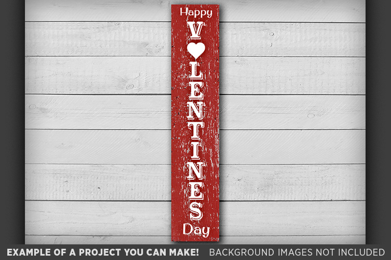 Happy Valentines Day Sign SVG - Valentines Day SVG - 1510 example image 2