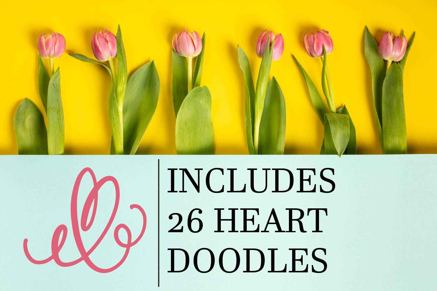 CLN - Monohearts - A Monogram Heart Font with Extra Doodles example image 7
