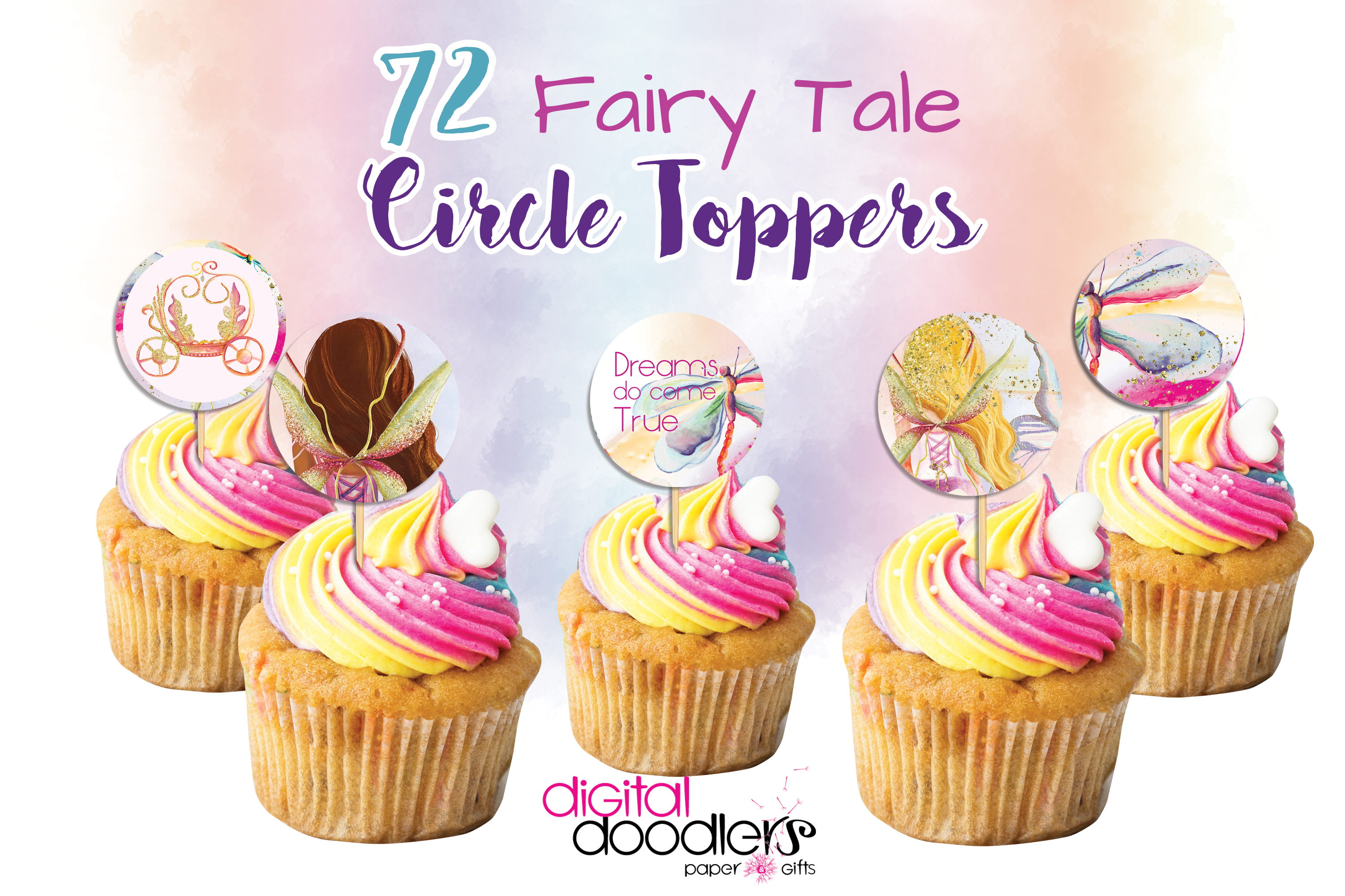 Fairy Tales Cup Cake Toppers example image 1