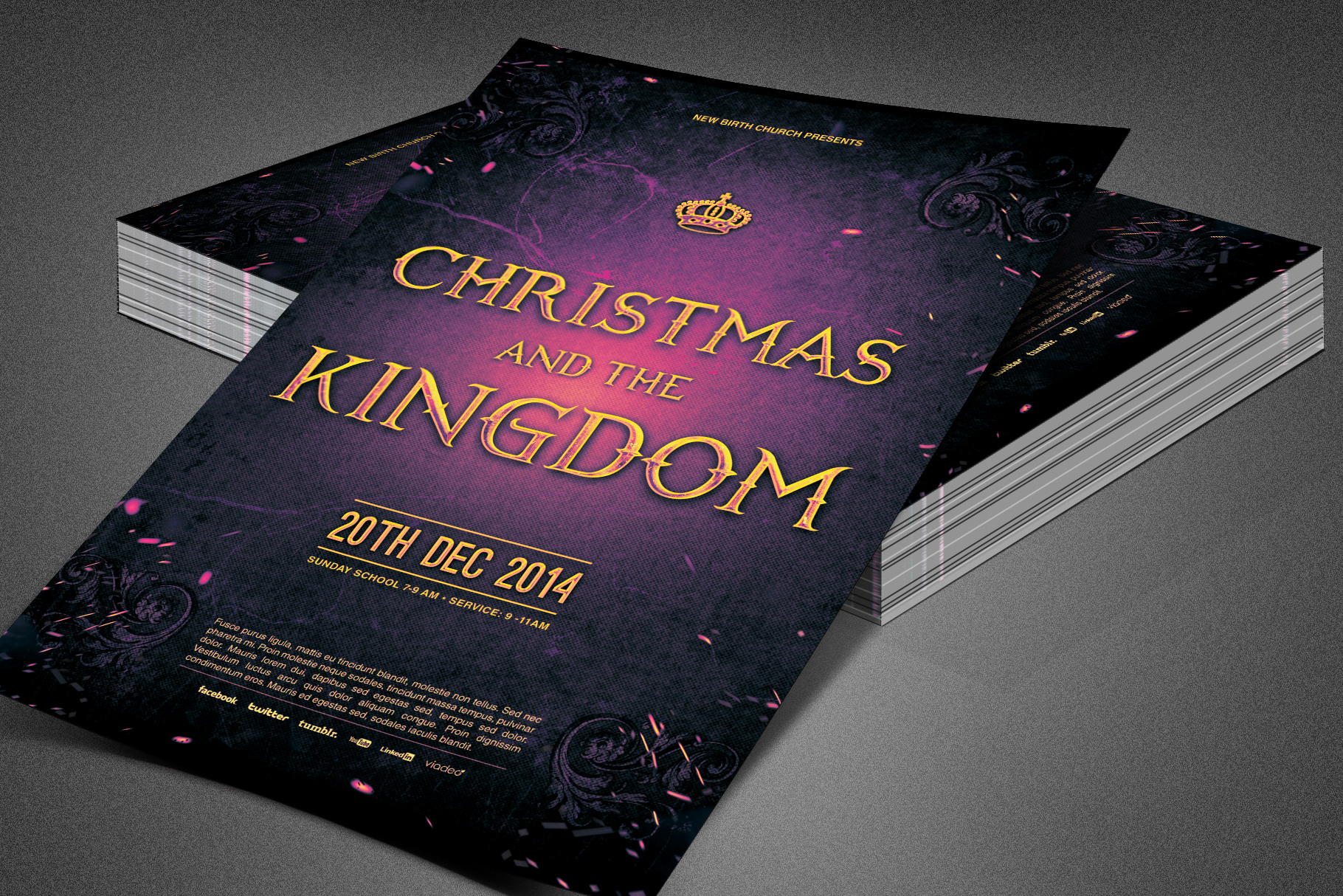 Christmas and the Kingdom Flyer example image 2