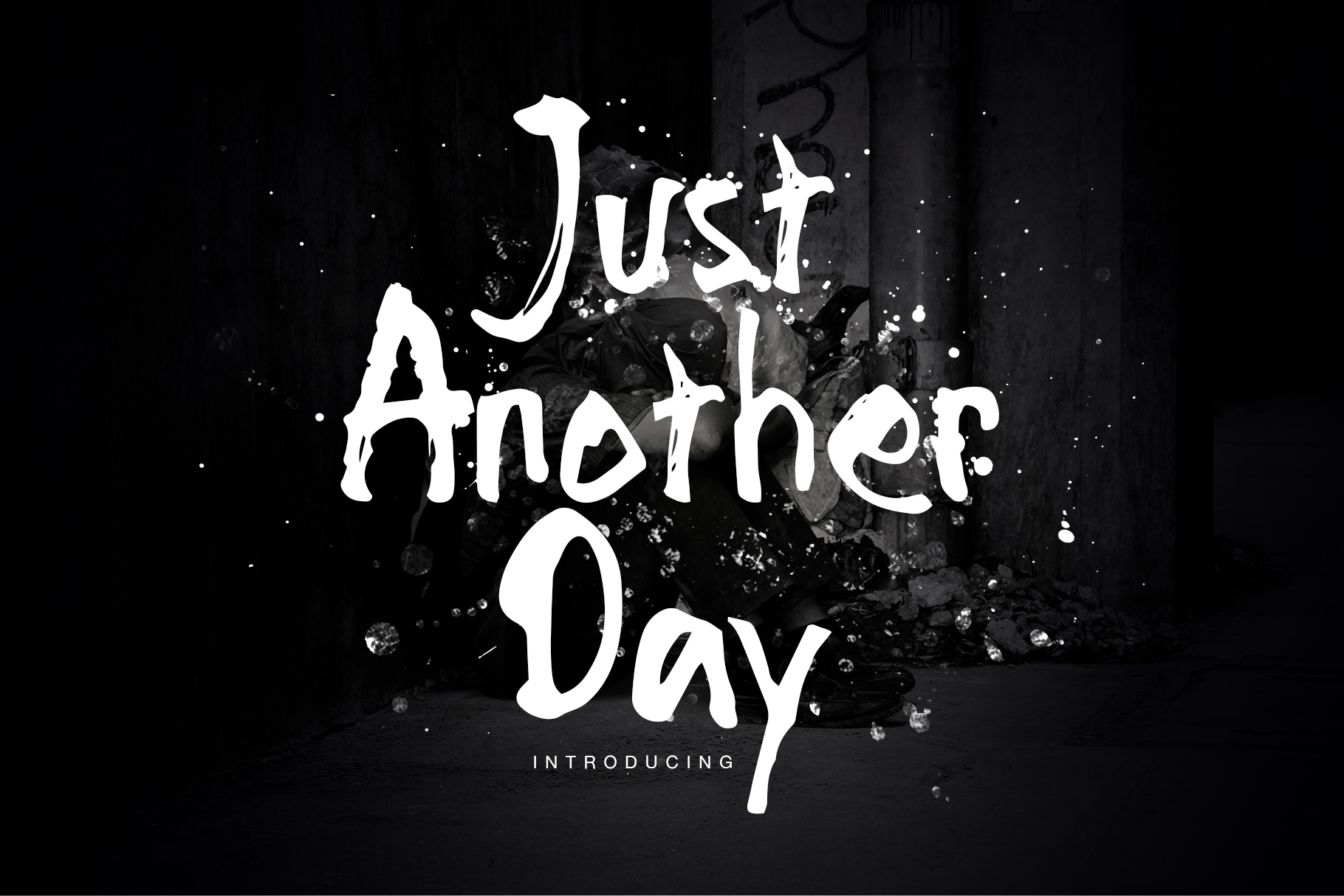 Just Another Day font example image 1