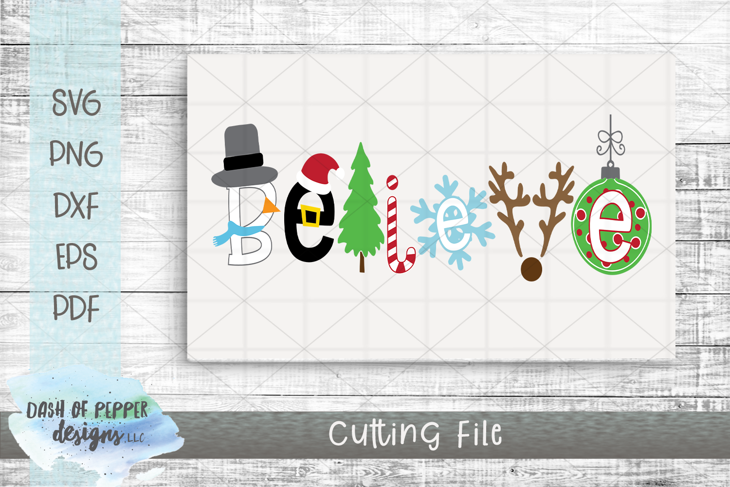 Believe SVG - A Christmas SVG example image 2
