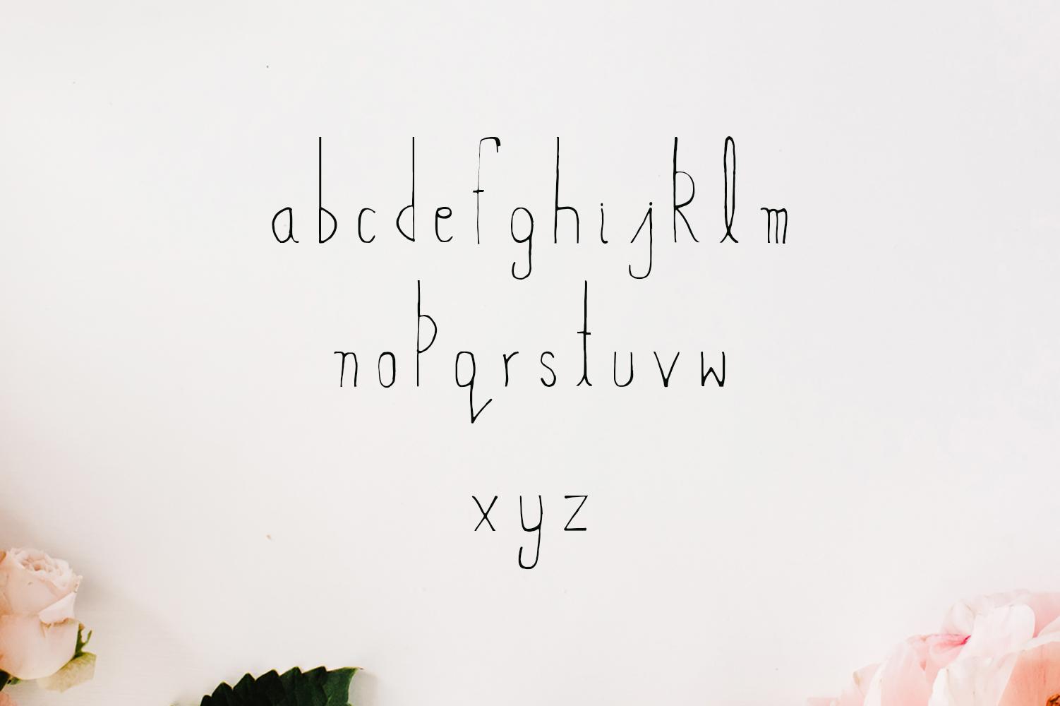 Abeetha Handmade Font example image 3