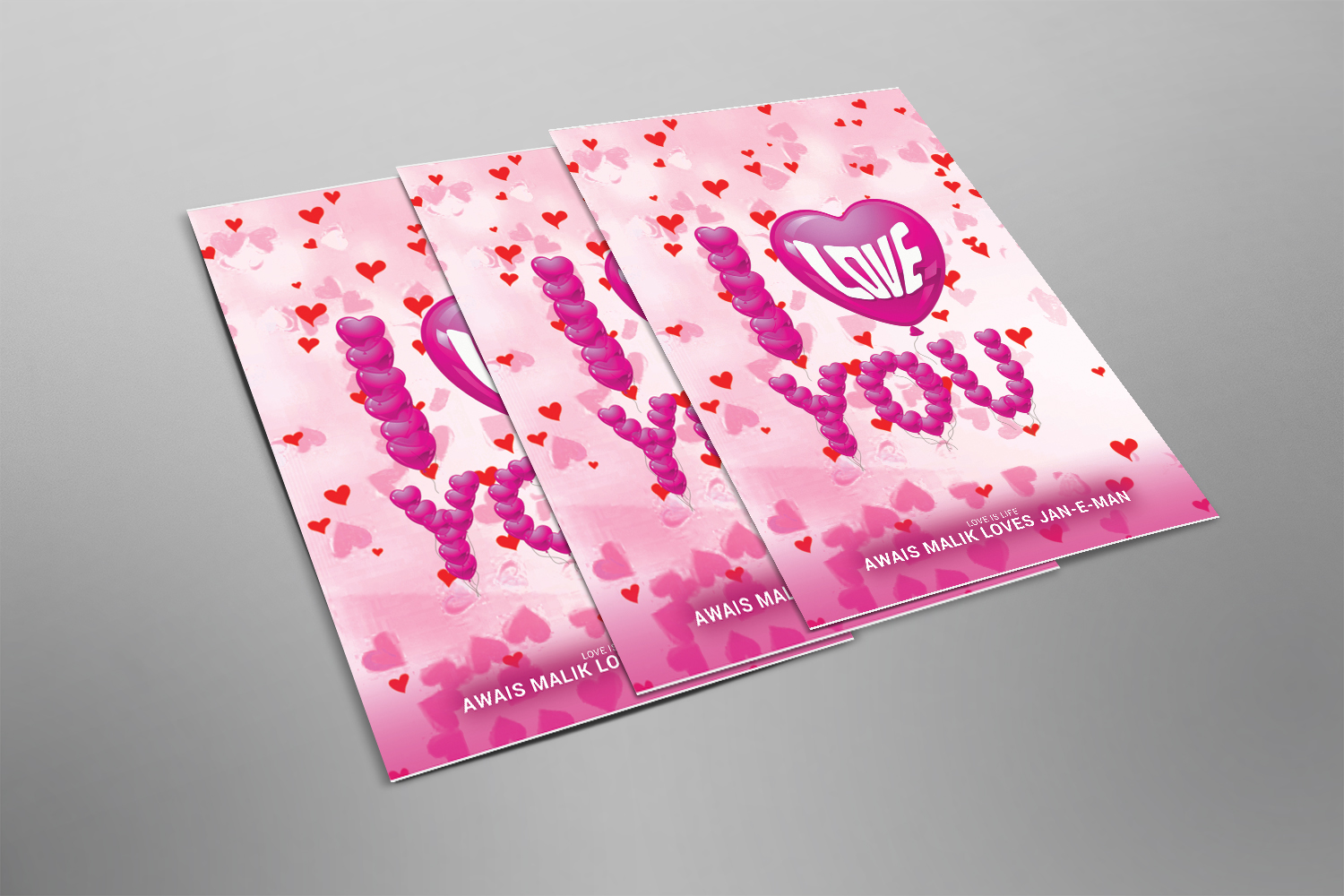 I LOVE YOU FLYER example image 2