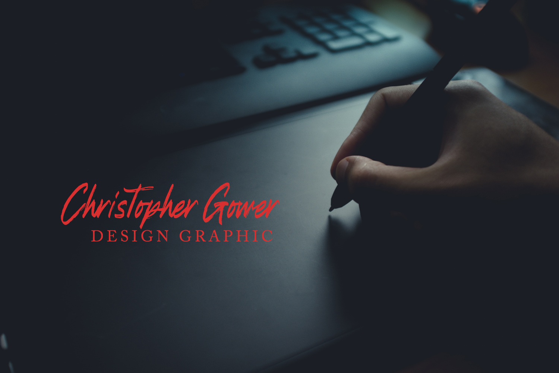 Refresh Screen Brush Script Font Duo example image 8