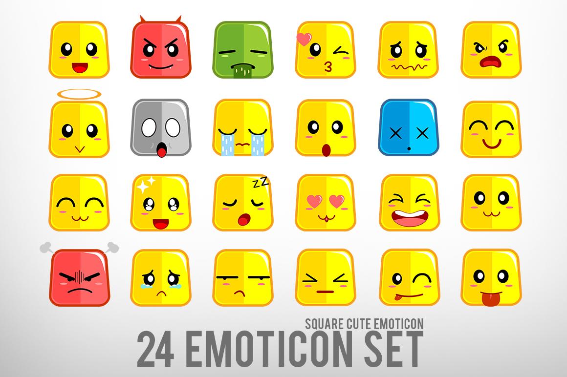 Square Cute Emoticon example image 1