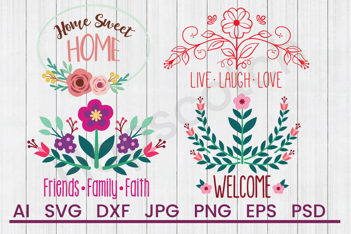 Home Sayings SVG Bundle, DXF File, Cuttable File example image 1