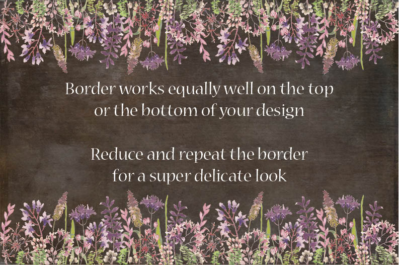 Wild flower border in watercolors example image 3
