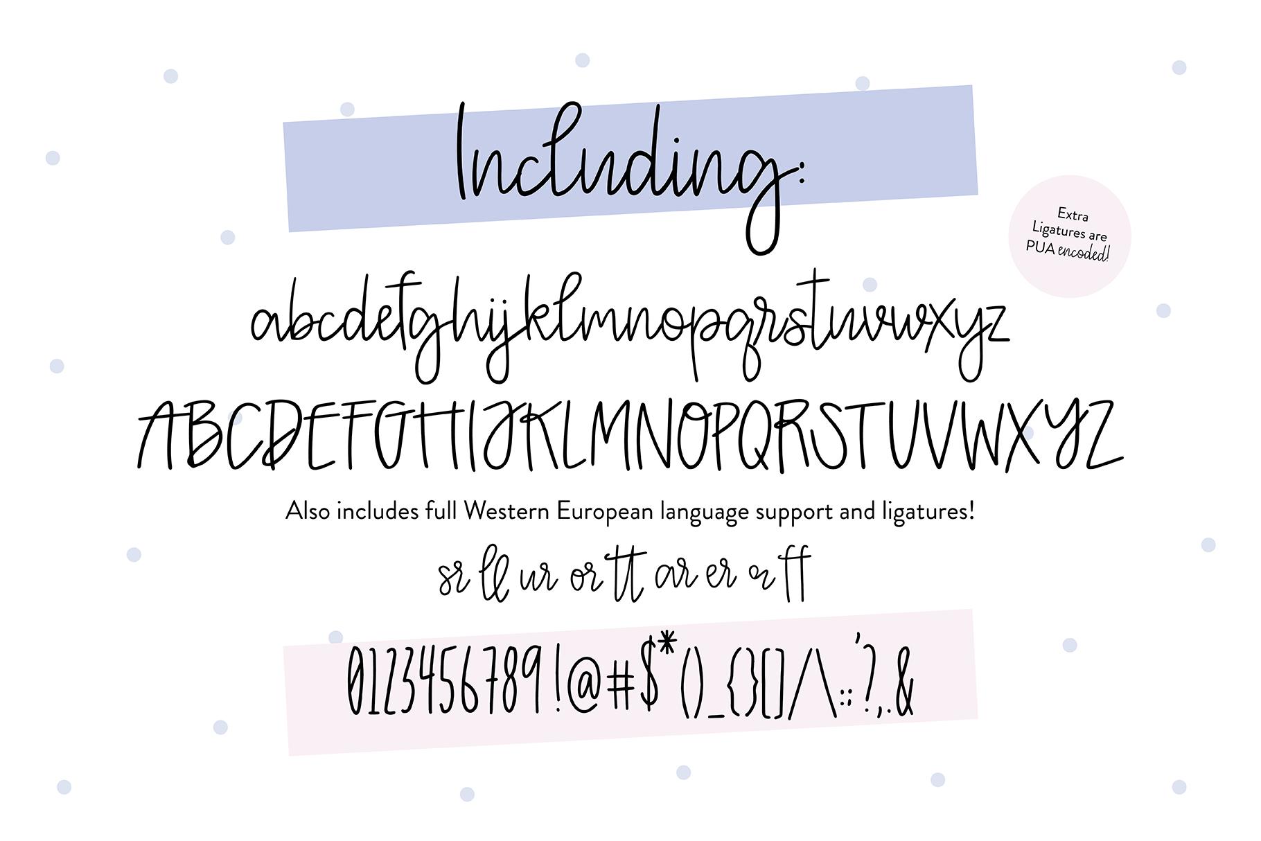 KHLOE Thin Script Handwritten .OTF Font example image 3