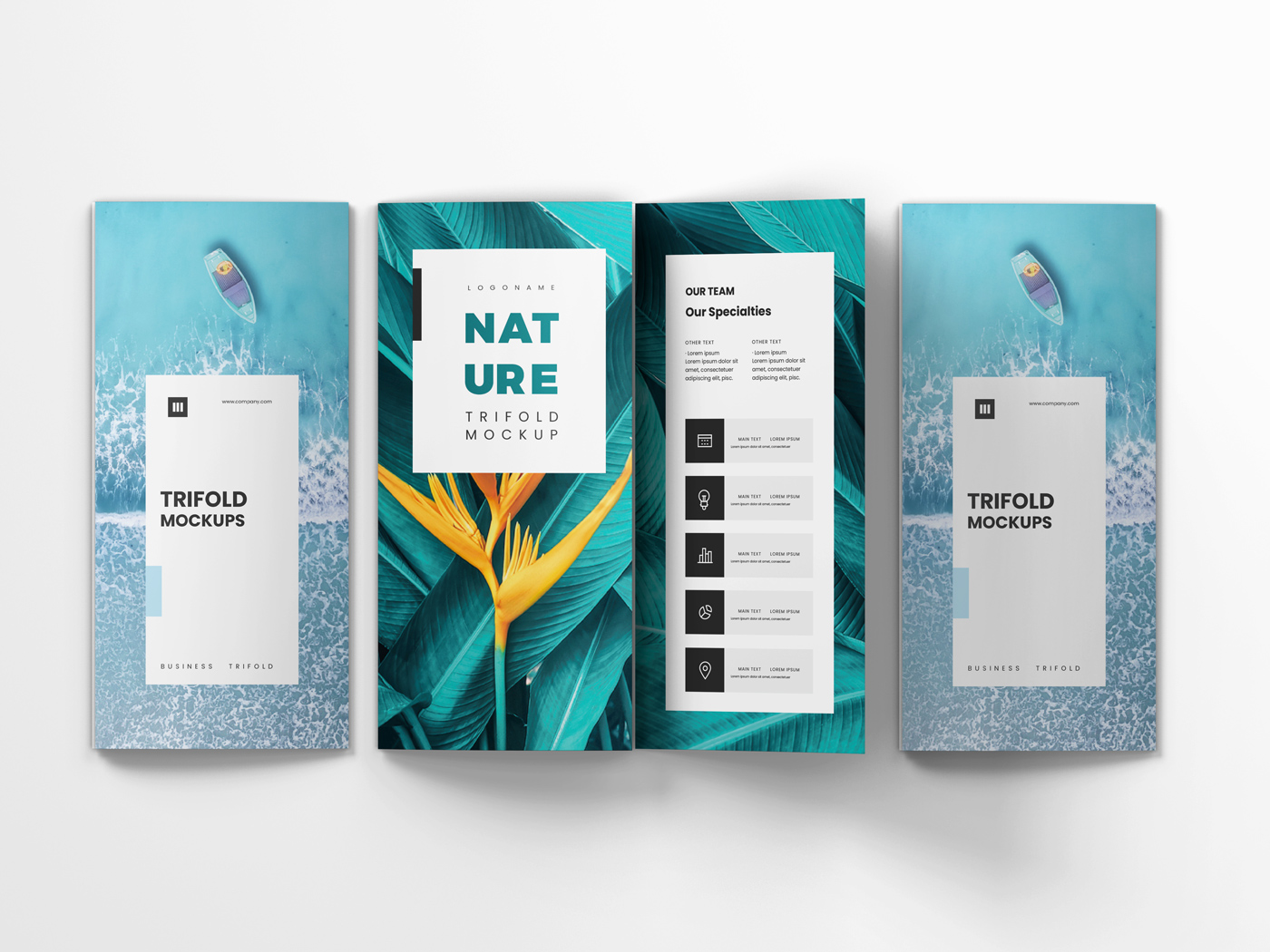 A4 Trifold Mockups V3 example image 13
