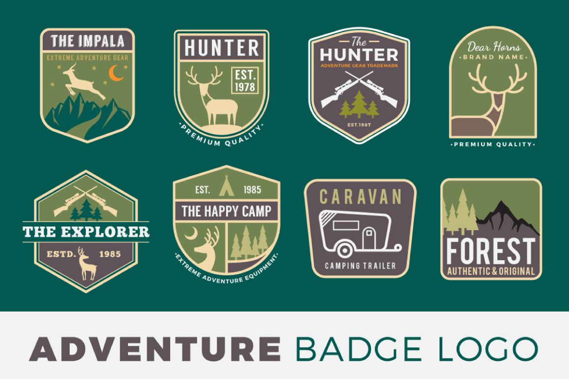 Adventure Badge Logo Template example image 1