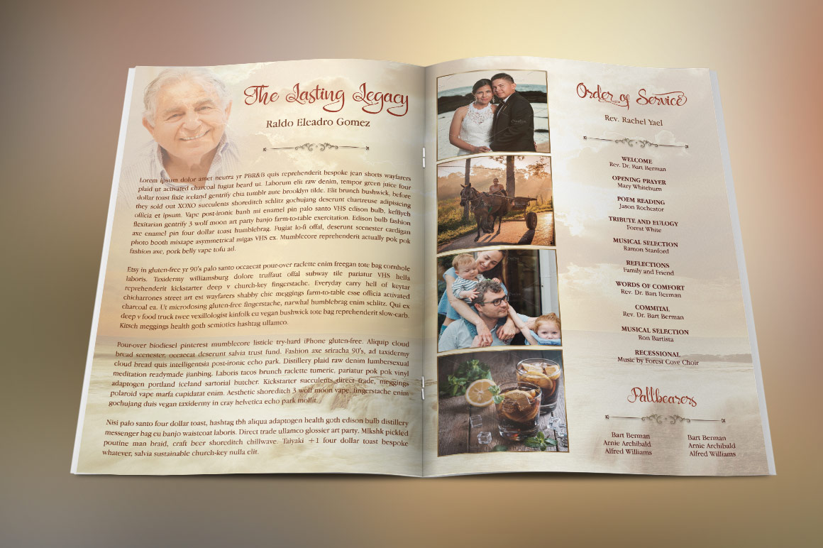 Forever Funeral Program Template example image 5