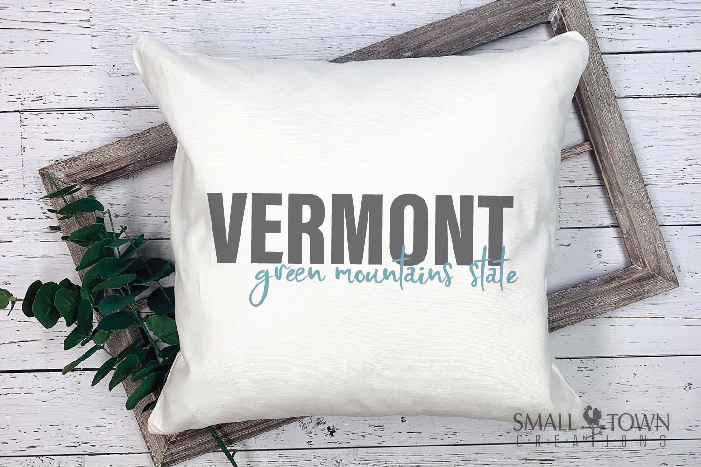 Vermont, Green Mountain State - slogan, PRINT, CUT & DESIGN example image 5