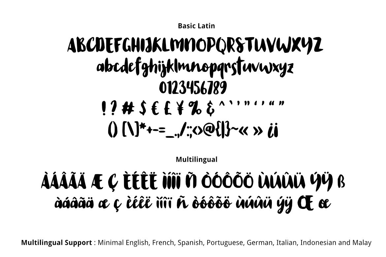 Wrist Hand Brush Font example image 2