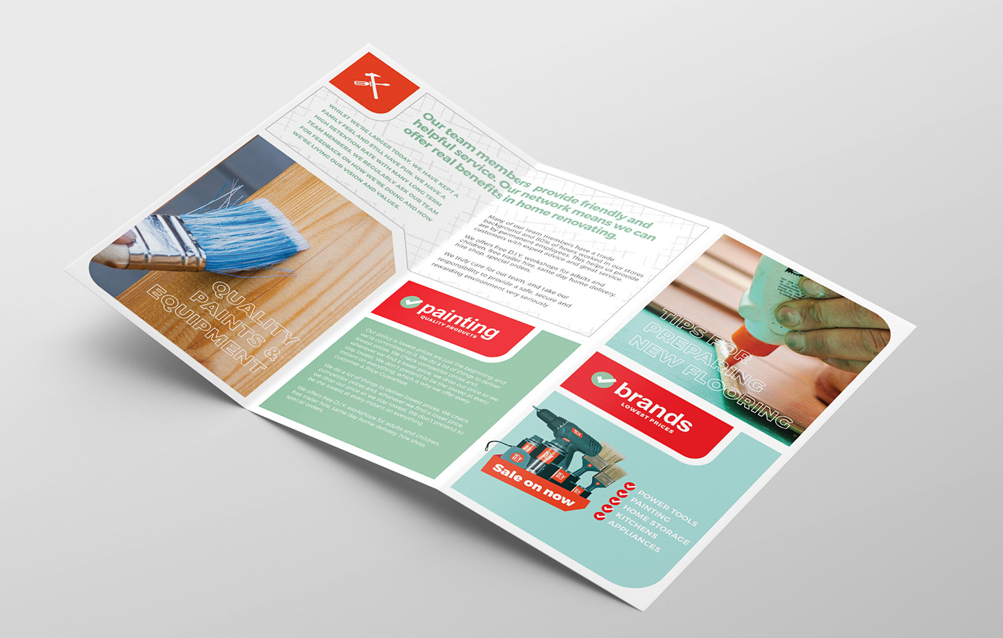 DIY Tool Supply Tri-Fold Brochure Template example image 2