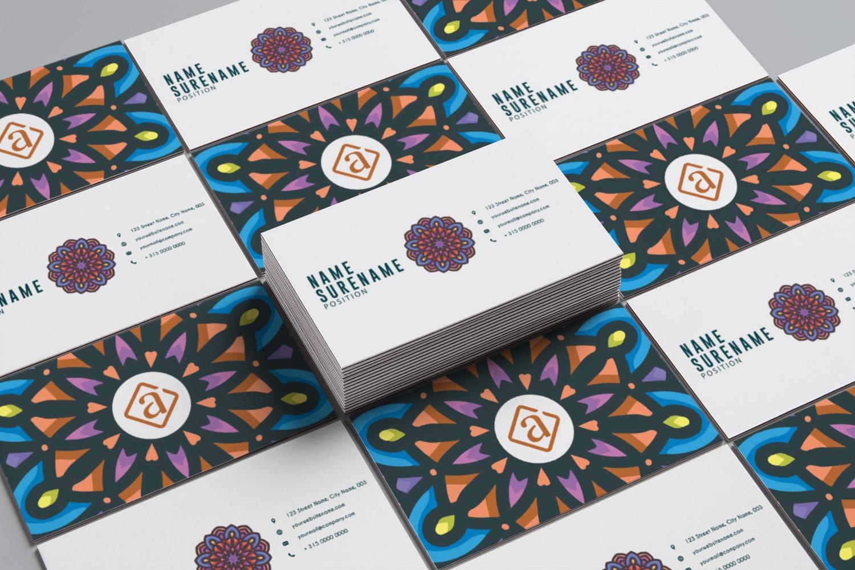 Mandala Business Card Template example image 2
