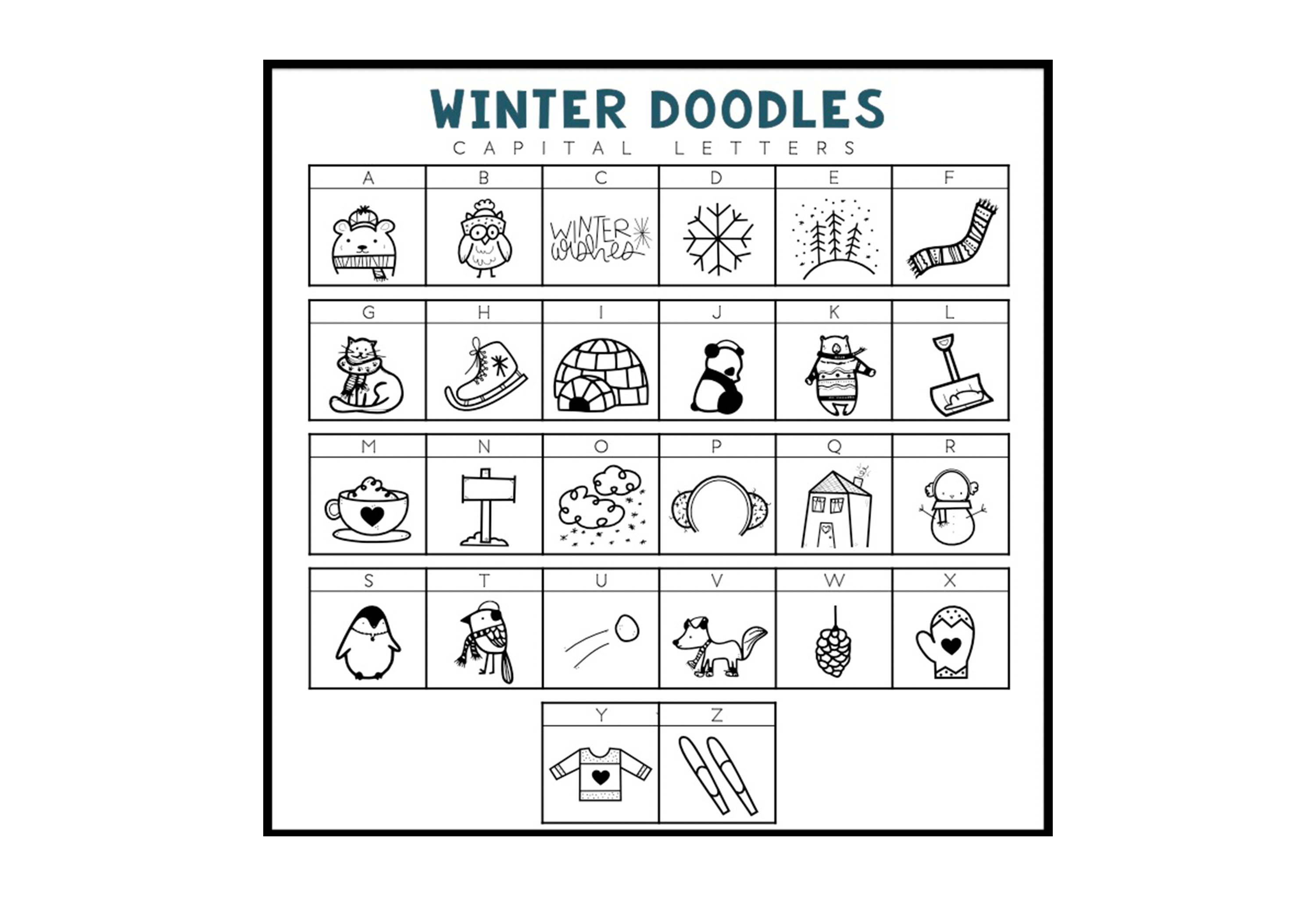 Winter Wishes - A Winter Doodles Font example image 3