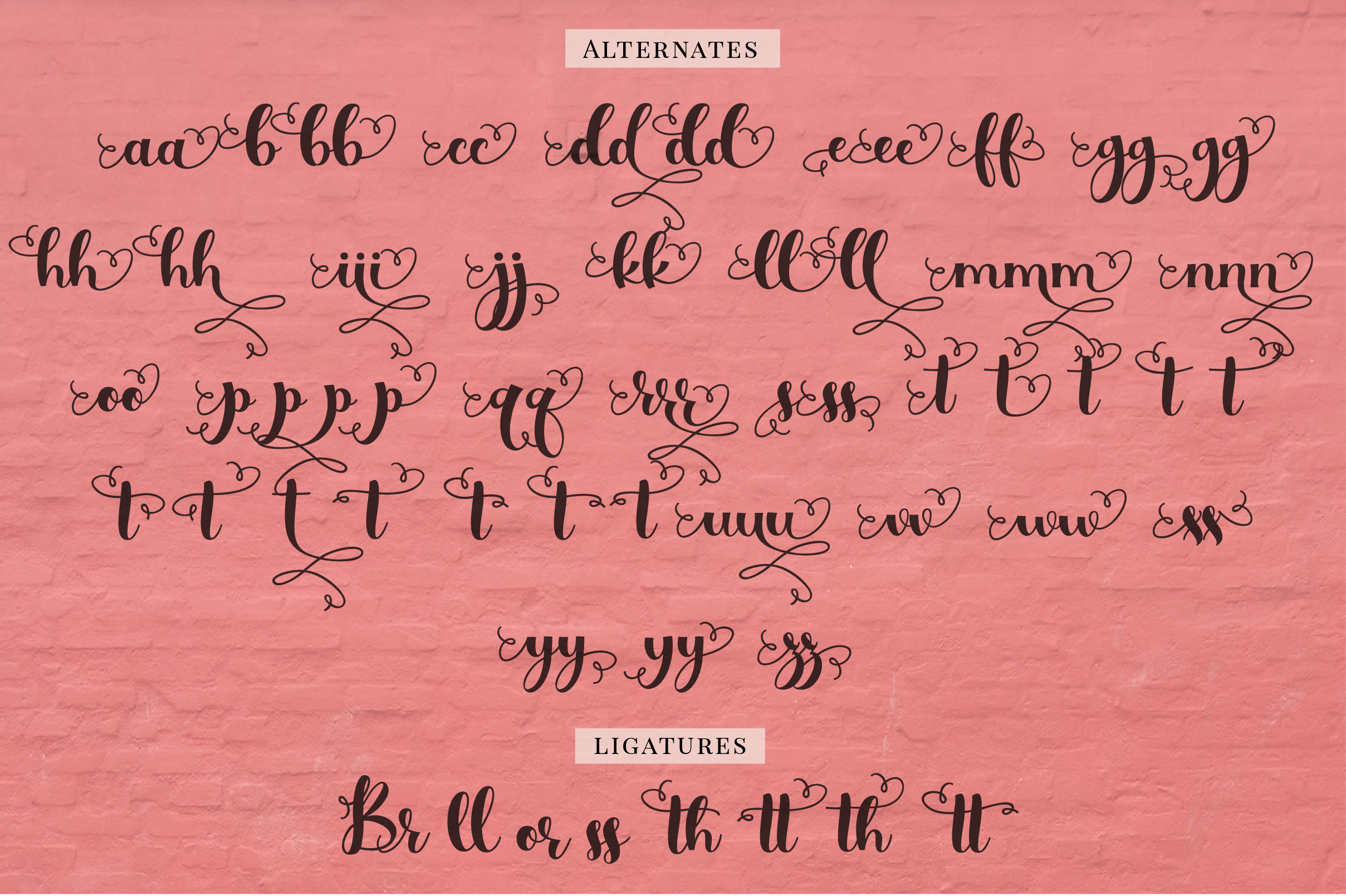 Simply Styled, a flourished ornamental script font example image 4