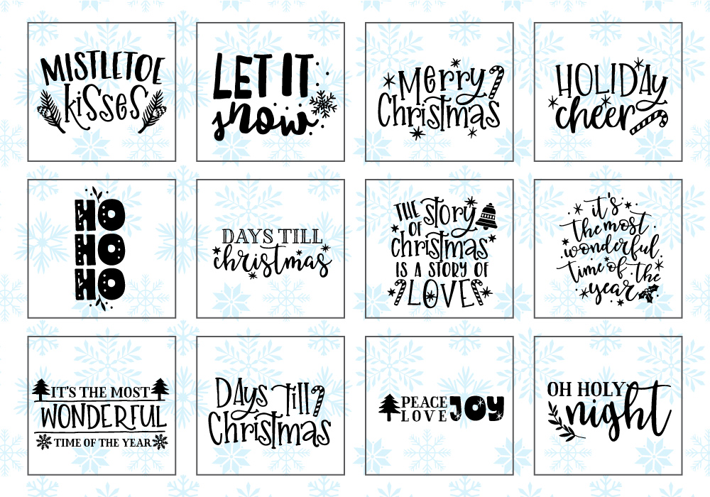 Happy Christmas SVG Cut File Bundle example image 4