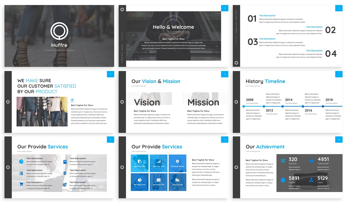 Huffre - Design Powerpoint Template example image 2