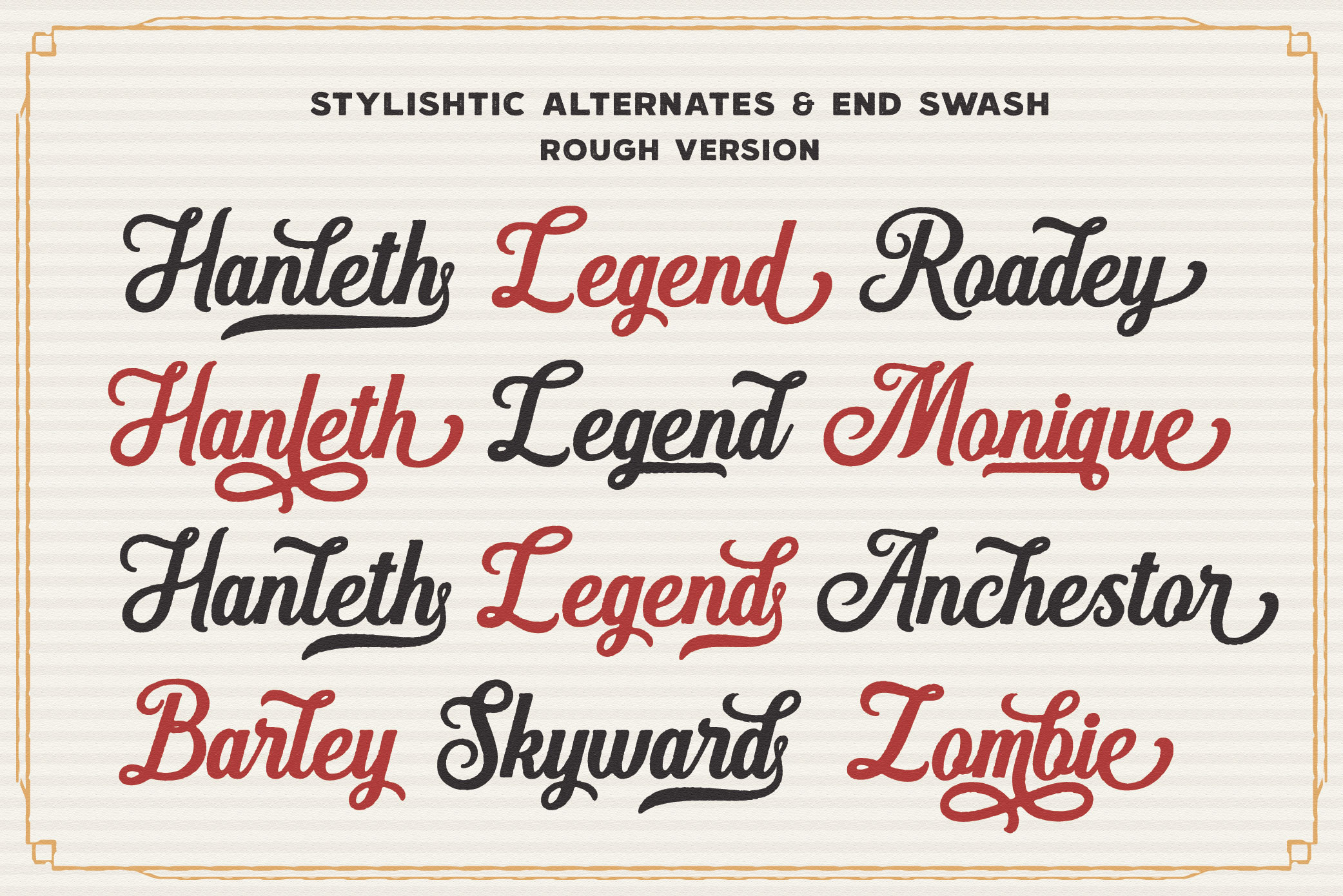 Hanleth Vintage Font Family example image 9