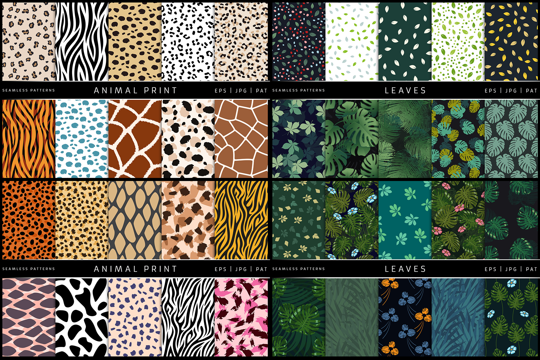 100 Seamless Patterns Vol.1 example image 2