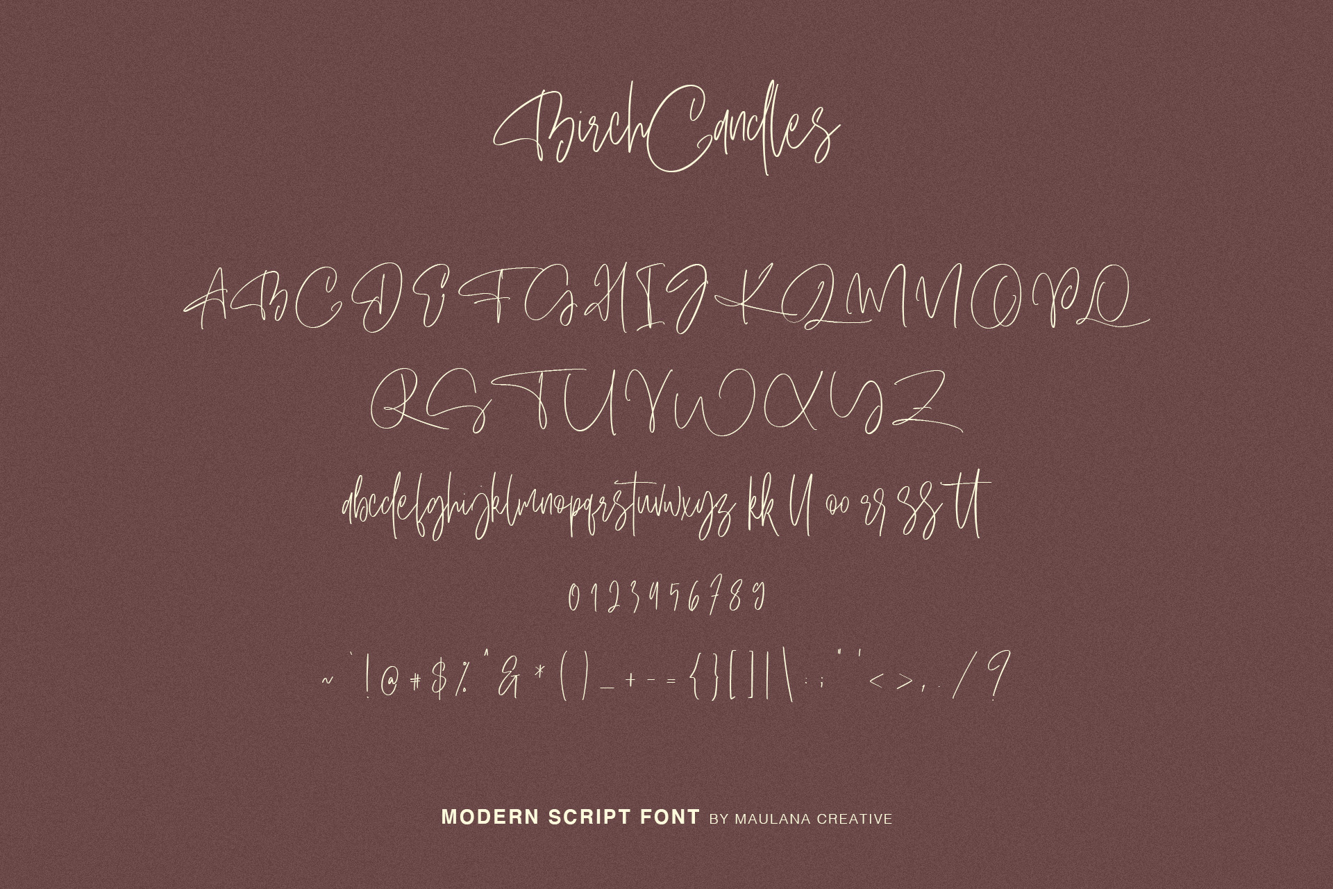 Birch Candles - Handwritten Font example image 8