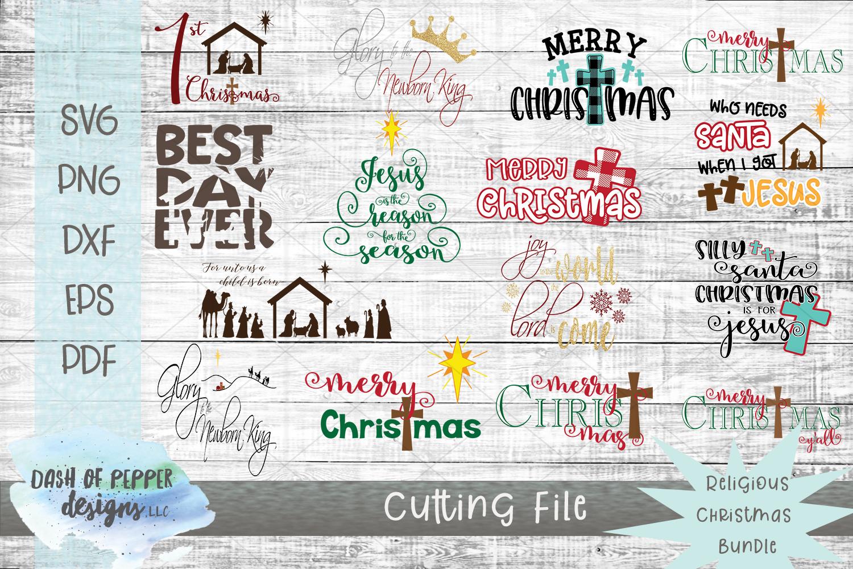 2018 Religious Christmas Bundle - 15 SVG Designs example image 1