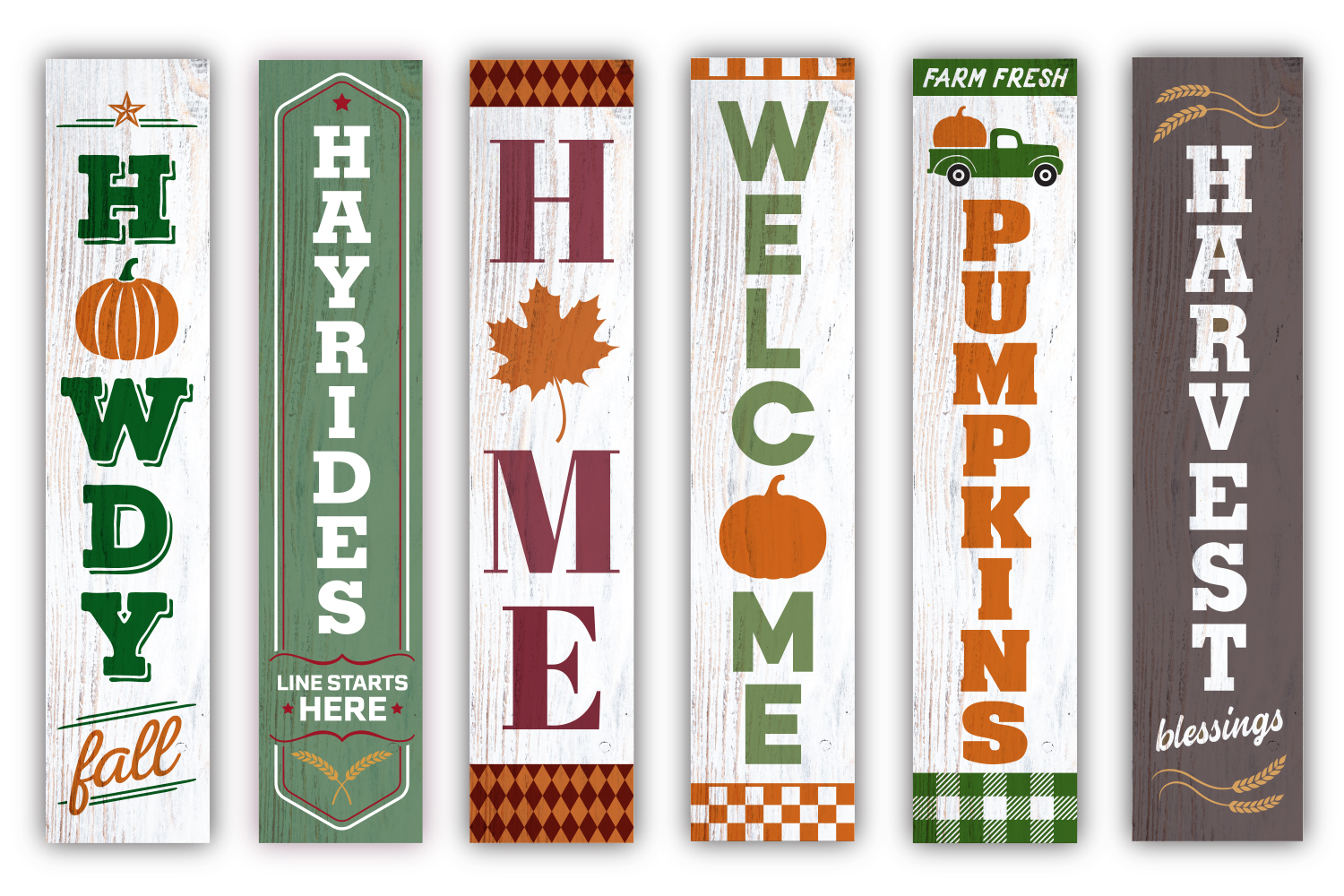 Fall / Autumn porch sign double bundle - SVG, EPS, JPG, PNG example image 2