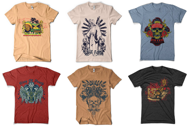 100 T-shirt Designs Vol 4 example image 10