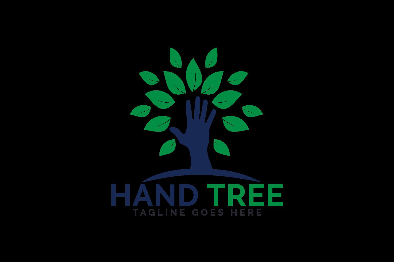 Hand Tree Logo Design. example image 2