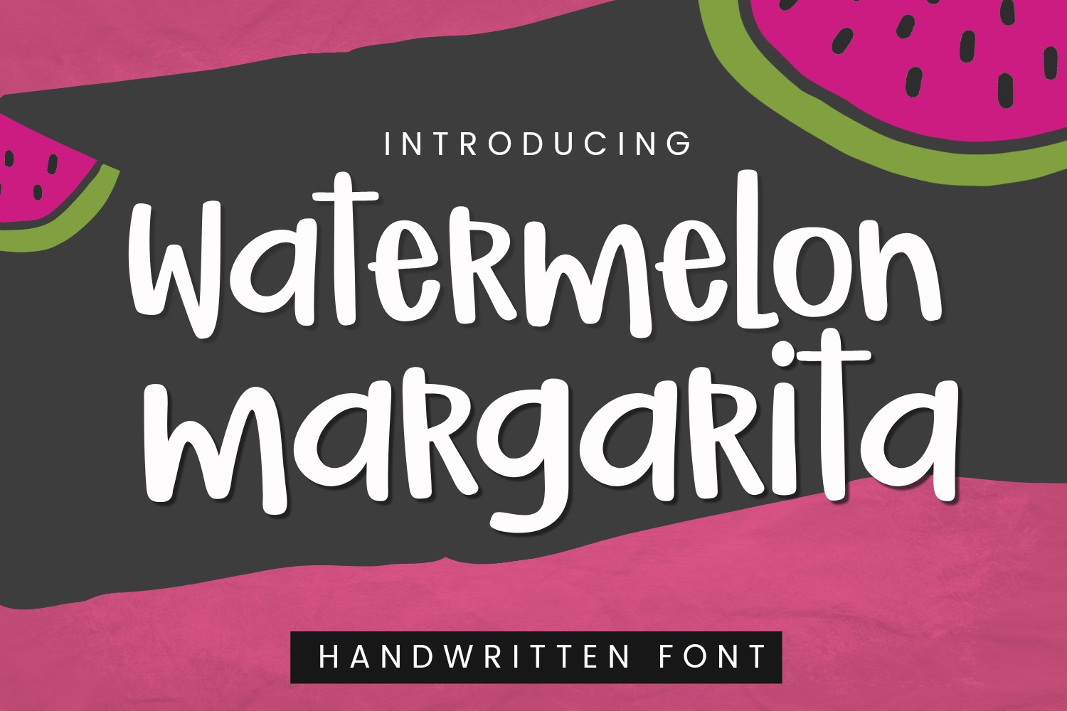 Watermelon Margarita | Smooth Handwritten Crafter Font example image 1