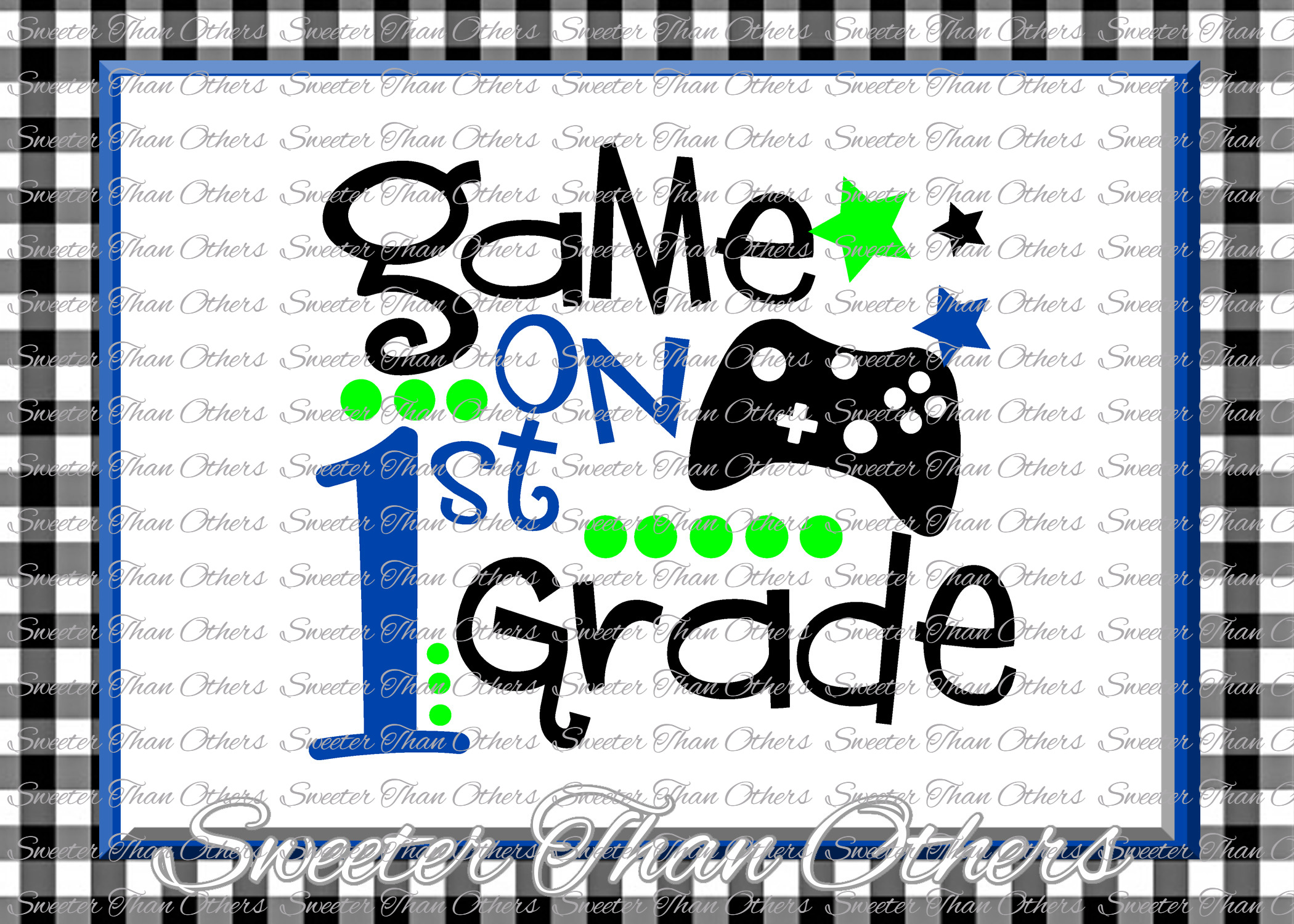 First Grade SVG 1st Grade game On cut file example image 1
