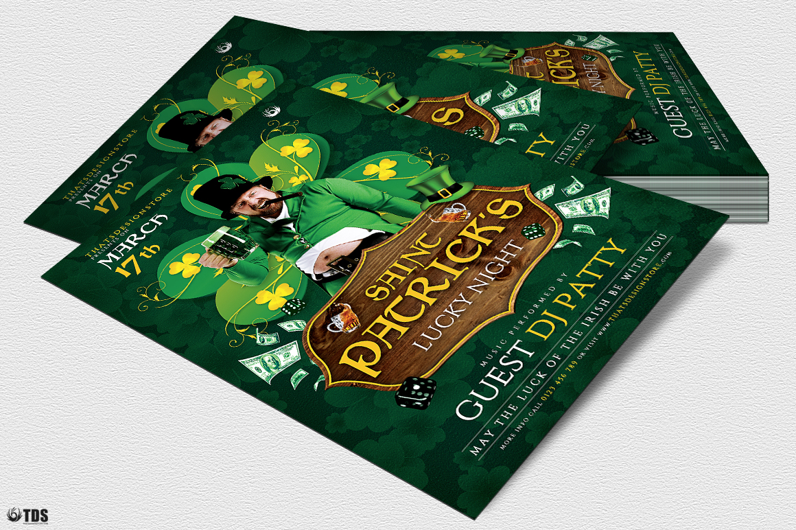 Saint Patricks Day Flyer Template V1 example image 4