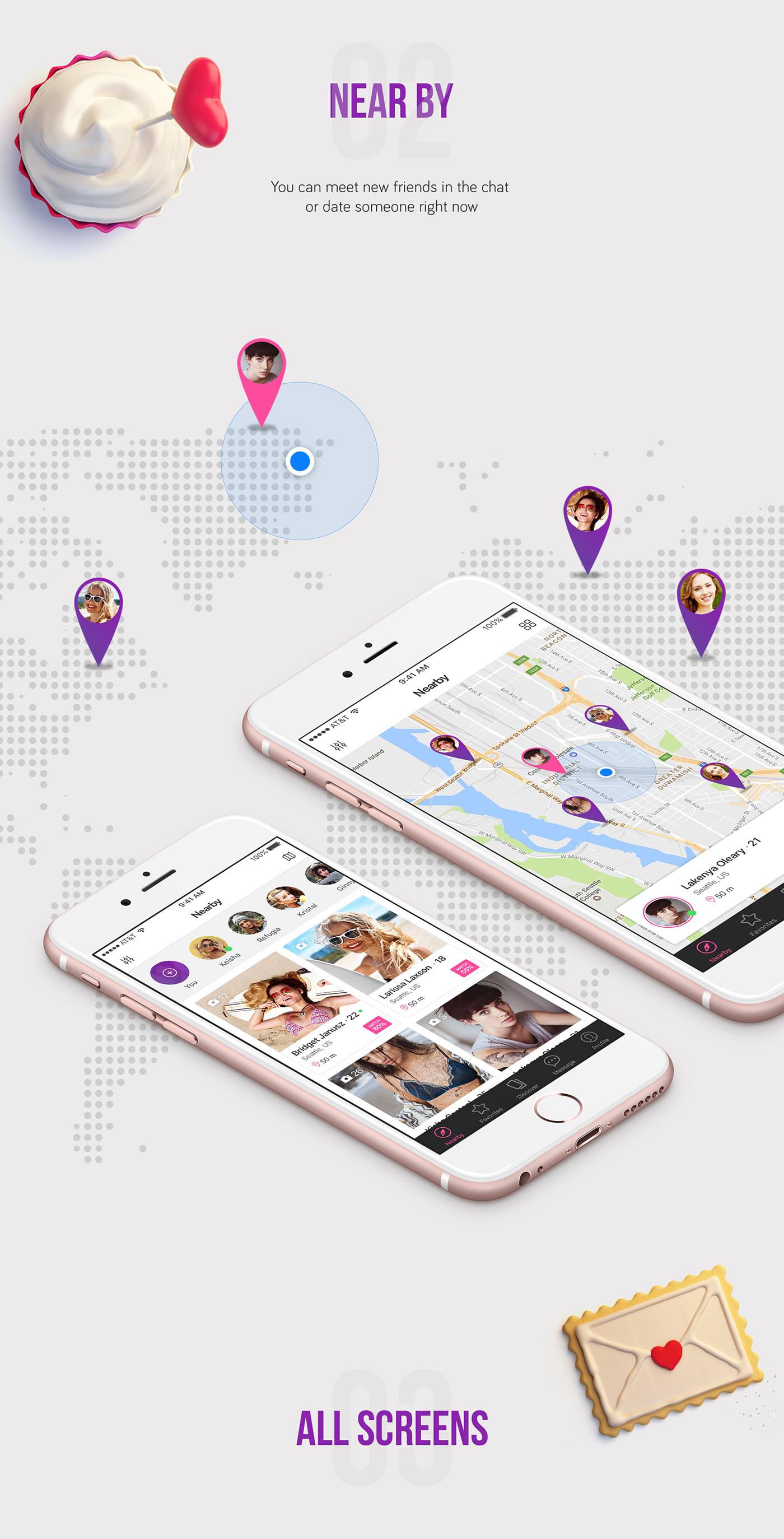 Pinger - Dating UI Kit example image 3