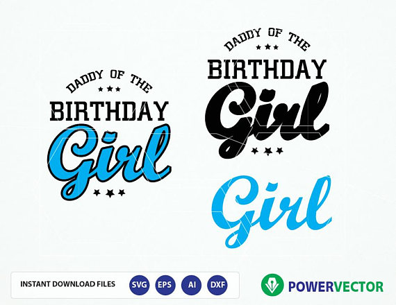 Daddy Mommy Sister of the Birthday Girl. Family Birthday Celebration T shirt Design SVG, Eps, Cricut, Silhouette Files example image 5