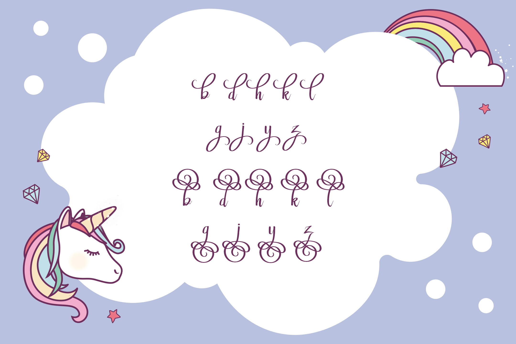 Rainbow Script example image 8